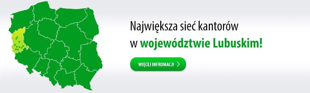 Największa sieć kantorów w woj. Lubuskim